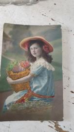 Leuke, royale eiermand + antieke paaskaart
