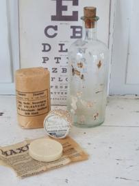 4-delige set oude/antieke Apothekers/medicijnverpakkingen