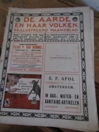 TIJDSCHRIFT: DE AARDE EN HAAR VOLKEN, Mei 1916 .Uitgave van H.D. Tjeenk Willink & Zn
