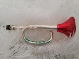 Oude/antieke kerstbal: Trompet - Toeter