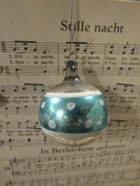 Oude/antieke kerstbal: Deco in turquoise