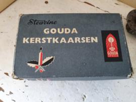 Oude doos GOUDA kerstboomkaarsjes