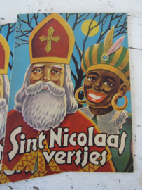 Oud nostalgisch Sinterklaasboekje 'SINT NICOLAAS VERSJES'. - B