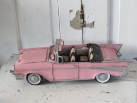 Superleuk! CHEVROLET BEL AIR 1957. Pink! Model metaal.