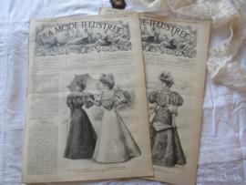 set van 2 st. LA MODE ILLUSTRÉE, Journal de la Famille. 21 en 28 Juli 1895 - N