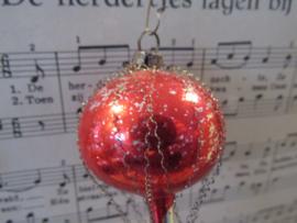 Antieke kerstbal: Ballon met leonisch draad