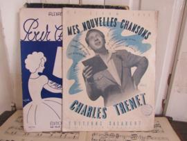 Set van 2 Oude Franse partituren/bladmuziek. ca. 1940