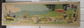 Prachtige Oude/antieke Schoolplaat: Bernard Leemker. De 4 Jaargetijden ZOMER. 1940