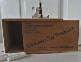 Oud houten kistje LINTEL Schoolbordkrijt. 1960-1970