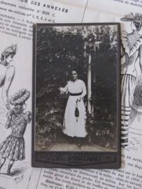Prachtige Dame ... VISIT PORTRAIT uit 1918 - Carte de Visite