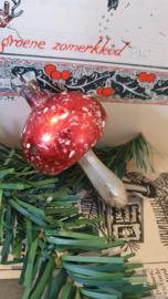 Oude/antieke kerstbal: Sleets paddenstoeltje