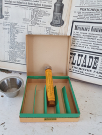 Oude/antieke doos AEROSAN-TABLETTEN + pillenbakje
