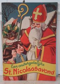 Prachtig oud Sinterklaasboek uit ca. 1950: Een Onvergetelijke ST.NICOLAASAVOND