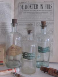 Antiek Medicijnflesje - Apothekersflesje GOULARDWATER. ApotheeK ADELAAR. CA. 1930-40