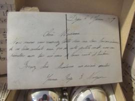 5 mooie oudjes in het originele doosje! + oude kerstkaart uit 1917