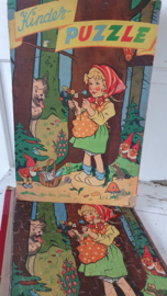 Oude/antieke Puzzel: Prachtige afbeelding ROODKAPJE