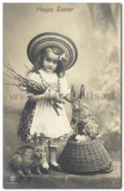 Paaskaart - Easter postcard 81