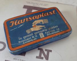 Oud/antiek blikje HANSAPLAST, in gereed gemaakte stukken ...