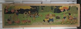 Prachtige Oude/antieke Schoolplaat: Bernard Leemker. De 4 Jaargetijden HERFST. 1940