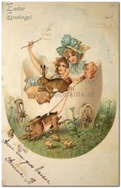 Paaskaart - Easter postcard 77