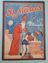 Oud Sinterklaasboek Sint Nicolaas Ca.1925