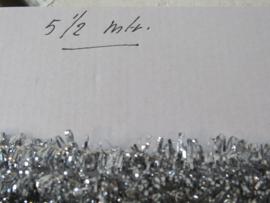 5½ meter oude Lametta kerstslinger - Gekruld. Op katoendraad