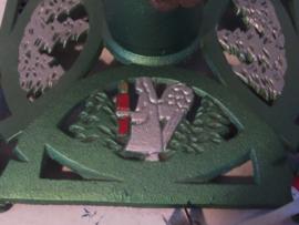 Oude Kerstboomstander gietijzer. Met engeltjes