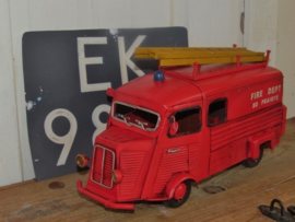 STOER! 1940 Red Citroën FIRE TRUCK! Model, metaal