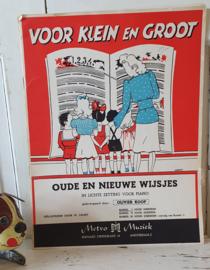 Prachtige bundel oude kinderliedjes met illustraties. jaren 50