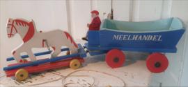 Leuk! Oude houten paard en wagen 'Meelhandel'