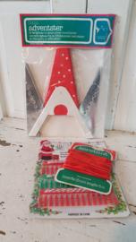 lotje vintage kerstspulletjes. o.a.  HEMA adventster