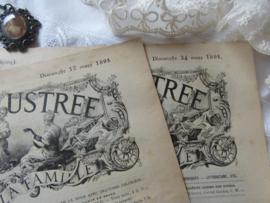 set van 2 st. LA MODE ILLUSTRÉE, Journal de la Famille. 17 en 24 Maart 1895 - E2