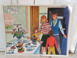 MOEDERDAG! Oude Schoolplaat dubbelzijdig 1950-1960. MOEDERDAG IS MOEDERS DAG