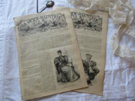 set van 2 st. LA MODE ILLUSTRÉE, Journal de la Famille. 26 Mei en 2 Juni 1895 - J