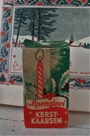 Oud doosje ALPENGLOEI kerstboomkaarsjes met gedraaide kaarsjes