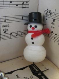 Oude/antieke kerstbal: Lief Sneeuwpopje