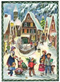 Prachtige Nostalgische Adventskalender 'KERST IN HET DORP' - A