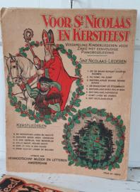 Antiek boek VOOR St.NICOLAAS EN KERSTFEEST. 14 Kinderliederen. uit. 1920