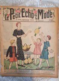 Antiek tijdschrift Le Petit ECHO de la MODE: 1 Maart 1936