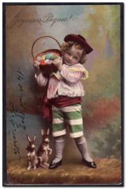 Paaskaart - Easter postcard 78
