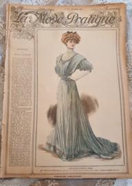 Prachtig Antiek tijdschrift LA MODE PRATIQUE uit Maart 1907