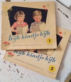 Superleuke kijkboekjes uit de jaren 50: KIJK KINDJE KIJK.  deel 1 en 2