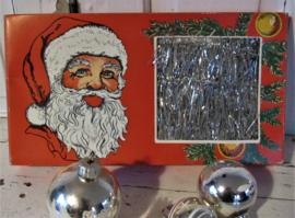 In prachtige Oude Nostalgische doos: LAMETTA kerstslinger. Zilver