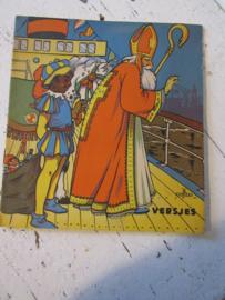 Oud Sinterklaasboekje met versjes en prachtige illustraties