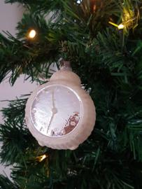 Oude-antieke kerstbal wekker/klokje