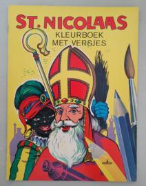 Oud Sinterklaasboek St. Nicolaas Kleurboek met versjes 1967