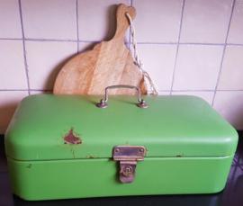 Resada groene emaille broodtrommel