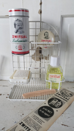 Oud ZWITSAL rekje met inhoud + oude advertentie uit 1959