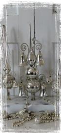 Oude/antieke Piek met 2 bollen. 4 Klingelende klokken en leonisch draad - G