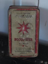 ROODE-STER Tabaksblik. N.V. Stoomtabaksfabriek 'Het Wapen van Rotterdam'